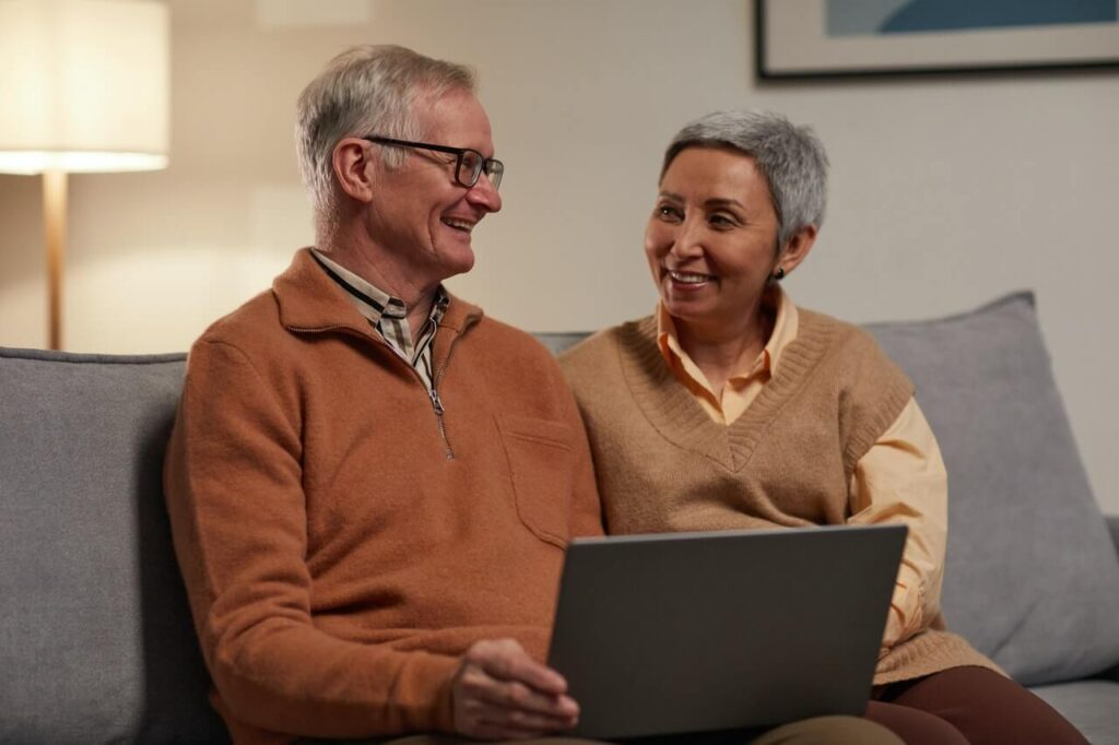 elderly couple considering regenerative telemedicine consult with dr khalid for anti-aging longevity counselling online